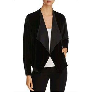 Alison Andrews Black Velvet Drape Front Jacket L
